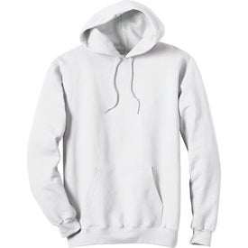 White Hanes Ultimate Cotton Hooded Sweatshirt