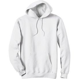 White Hanes Ultimate Cotton Hooded Sweatshirt