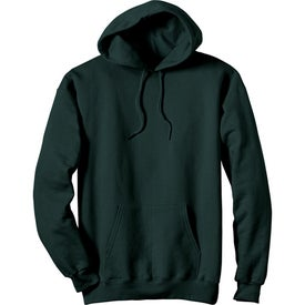 Dark Hanes Ultimate Cotton Hooded Sweatshirt Imprinted with Your Logo