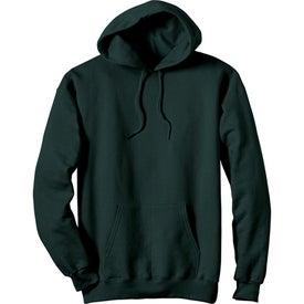 Dark Hanes Ultimate Cotton Hooded Sweatshirt Imprinted with Your Logo