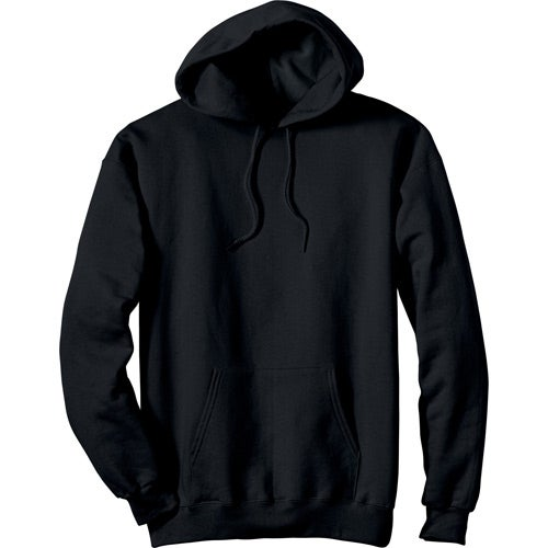 Black Dark Hanes Ultimate Cotton Hooded Sweatshirt