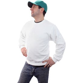 Jerzee NuBlend Crewneck Sweatshirt Branded with Your Logo