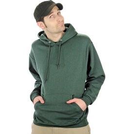Printed Jerzee NuBlend Hooded Sweatshirt