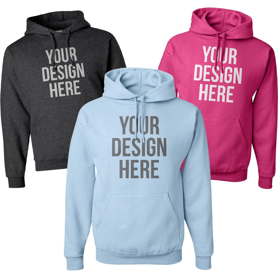 Jerzee NuBlend Hooded Sweatshirt (Colors)