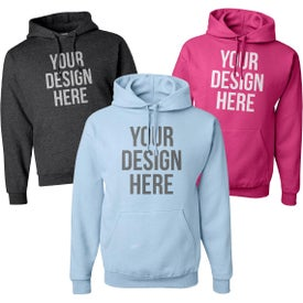 Jerzee NuBlend Hooded Sweatshirt Imprinted with Your Logo
