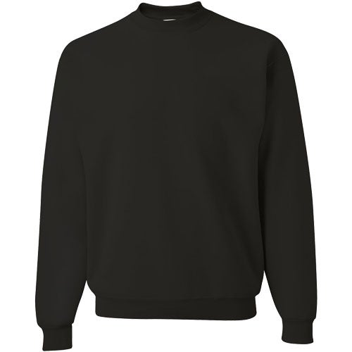 Black JERZEES SUPER SWEATS Crewneck Sweatshirt