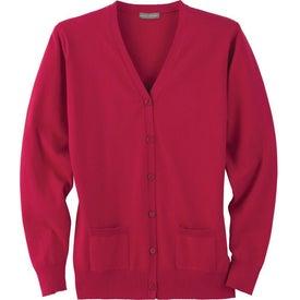 Imprinted Narenta Cardigan Sweater by TRIMARK