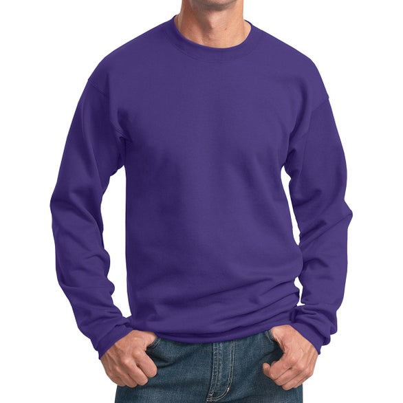 Purple Port and Company Core Fleece Crewneck Sweatshirt