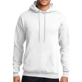Port and Company Core Fleece Pullover Hooded Sweatshirt (Men's, White)