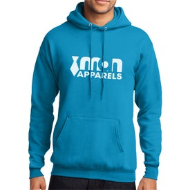 Port and Company Core Fleece Pullover Hooded Sweatshirt (Men's, Colors)
