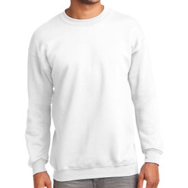 Port and Company Essential Fleece Crewneck Sweatshirt (White)