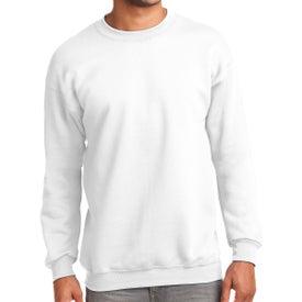 Port & Company Essential Fleece Crewneck Sweatshirt (White)