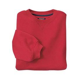 Printed Port Authority Sueded Finish Crewneck Sweatshirt