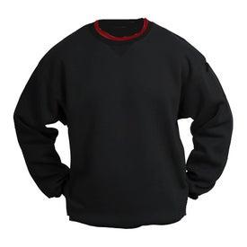 Branded Sport-Tek Crewneck Sweatshirt with Tipped Trim