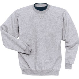 Sport-Tek Crewneck Sweatshirt with Tipped Trim Printed with Your Logo