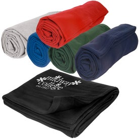 Custom Sweatshirt Blanket for Marketing