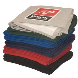 Custom Sweatshirt Blanket Branded with Your Logo