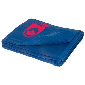 Imprinted Soft Sweatshirt Blanket