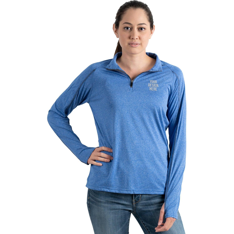 Taza Knit Quarter Zip Sweatshirt by TRIMARK (Women's)