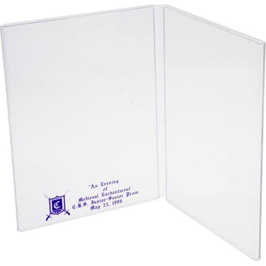 Clear Book Style Table Tent Sign Holder