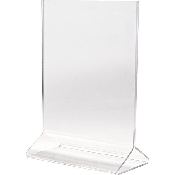 Clear Double Sided Tabletop Sign Holder