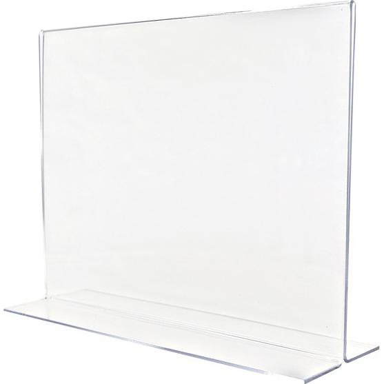 Clear Horizontal Clear Sign Holder