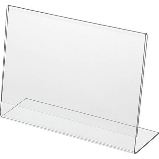 Clear L-Shaped Sign Holder Frame