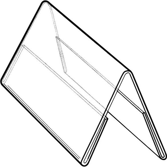 Clear Large Clear Acrylic Table Tent Sign Holder