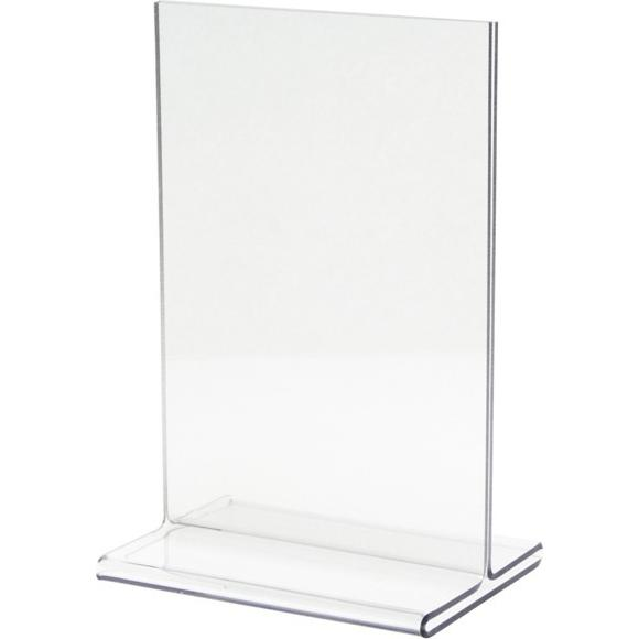 Clear Sign Holder with Flat Base