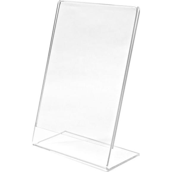 Clear Single Sided Clear L-Shaped Sign Holder