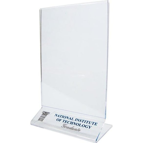 Clear Single Sided Countertop Sign Holder