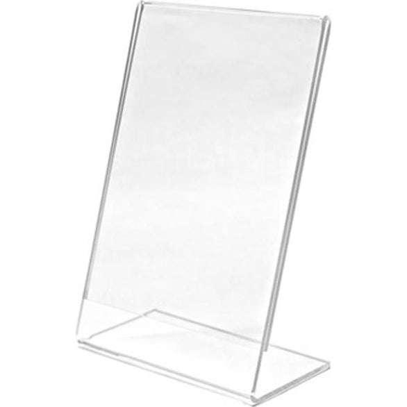 Clear Single Sided L-Shaped Sign Holder
