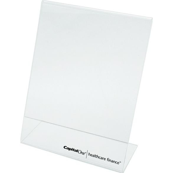 Clear Single Sided Sign Holder