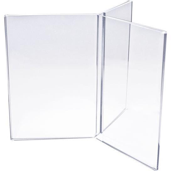 Clear Six Sided Acrylic Sign Holder
