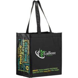 100% RPET Laminated Grocery Tote Bag