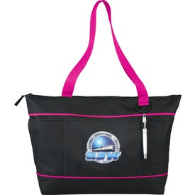 "Zippered Multi Pocket 11"" Tablet Tote"