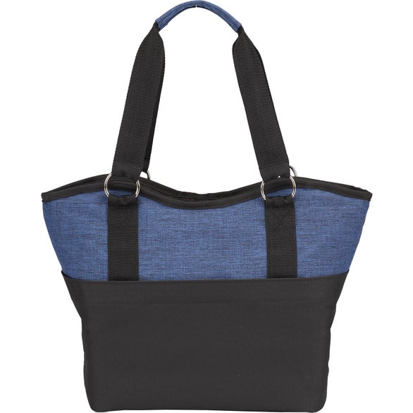 Navy Heather / Black 12-Can Malibu Cooler Tote Bag