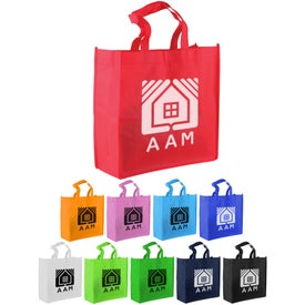 "13"" Non-Woven Tote Bag Imprinted with Your Logo"