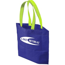 Printed 2 Tone Bottom Gusset Tote Bag
