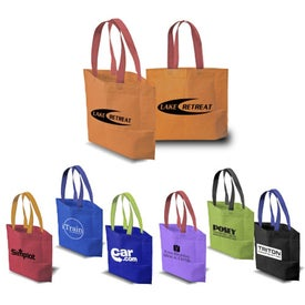 Customized 2 Tone Bottom Gusset Tote Bag