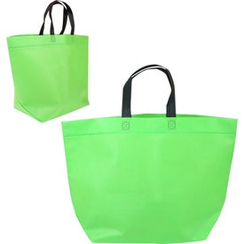 Two Tone Heat Sealed Nonwoven Shopper Tote with Your Logo