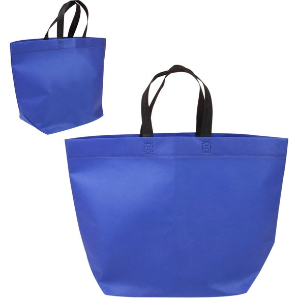 Reflex Blue Two Tone Heat Sealed Nonwoven Shopper Tote Bag