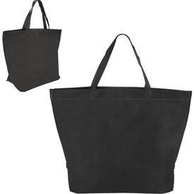 Two Tone Heat Sealed Nonwoven Shopper Tote for Your Company