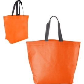 Two Tone Heat Sealed Nonwoven Shopper Tote with Your Slogan