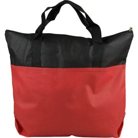 2 Tone Non-Woven Zip Tote Imprinted with Your Logo