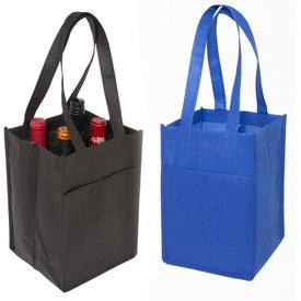 "4-Bottle Wine Tote Bag (7.48"" x 11.22"" x 7.5"")"