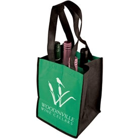 Four-Bottle Wine Tote for Your Company