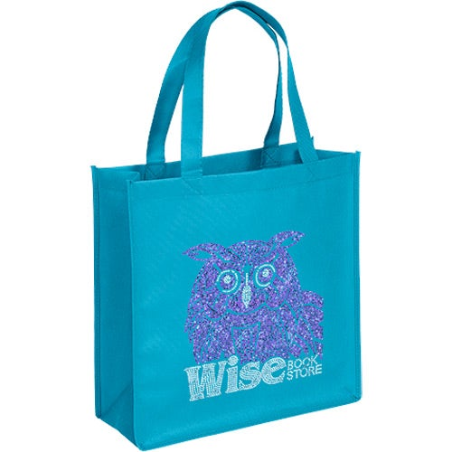 Bright Blue Sparkly Abe Tote Bag