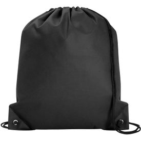 Poly Pro Drawstring Tote Bag Branded with Your Logo