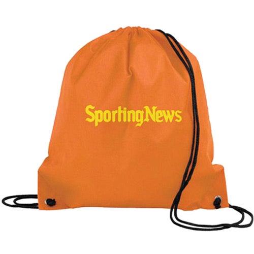 Orange Poly Pro Drawstring Tote Bag